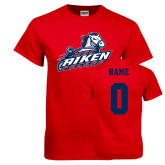 Red T Shirt-Primary Mark, Custom Tee w/ Name and #