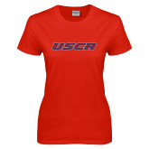 Ladies Red T Shirt-USCA