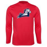 Performance Red Longsleeve Shirt-Secondary Mark