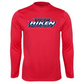 Performance Red Longsleeve Shirt-USC Aiken Pacers Stacked