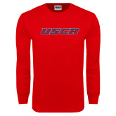 Red Long Sleeve T Shirt-USCA