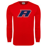 Red Long Sleeve T Shirt-A