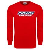 Red Long Sleeve T Shirt-Basketball