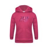 Youth Raspberry Fleece Hoodie-A