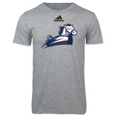 Adidas Sport Grey Logo T Shirt-Secondary Mark