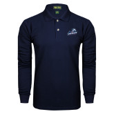 Navy Long Sleeve Polo-Primary Mark