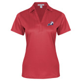 Ladies Red Performance Fine Jacquard Polo-Secondary Mark