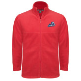 Fleece Full Zip Red Jacket-Primary Mark