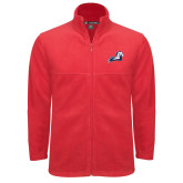 Fleece Full Zip Red Jacket-Secondary Mark
