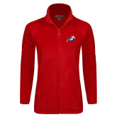 Ladies Fleece Full Zip Red Jacket-Secondary Mark