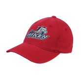 Red Flexfit Structured Low Profile Hat-Primary Mark