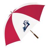 62 Inch Red/White Vented Umbrella-Secondary Mark