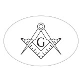 Large Decal-Square and Compass with G, 8.5 inches wide
