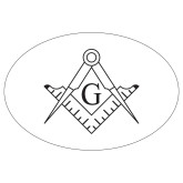 Extra Large Decal-Square and Compass with G, 12 inches wide