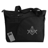 Excel Black Sport Utility Tote-Square and Compass with G