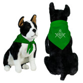 Kelly Green Pet Bandana-Square and Compass with G