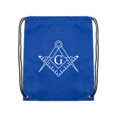 Royal Drawstring Backpack-Square and Compass with G