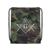 Camo Drawstring Backpack-Square and Compass with G