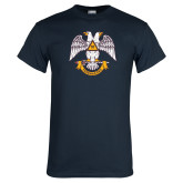 Navy T Shirt-Freemasons