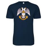 Next Level SoftStyle Navy T Shirt-Freemasons