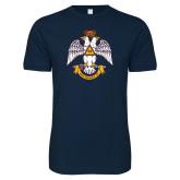 Next Level SoftStyle Navy T Shirt-Deus Meumque Jus