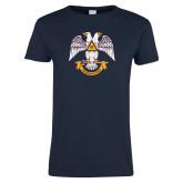 Ladies Navy T Shirt-Freemasons