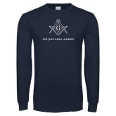 Navy Long Sleeve T Shirt-Not Just A Man A Mason