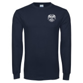 Navy Long Sleeve T Shirt-Spes Mea In Deo Est