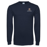 Navy Long Sleeve T Shirt-Scottish Rite Lockup