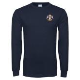 Navy Long Sleeve T Shirt-Deus Meumque Jus