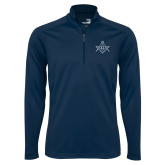 Syntrel Navy Interlock 1/4 Zip-Square and Compass with G