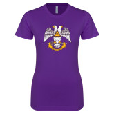 Next Level Ladies SoftStyle Junior Fitted Purple Tee-Freemasons