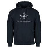 Navy Fleece Hoodie-Not Just A Man A Mason