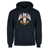 Navy Fleece Hoodie-Spes Mea In Deo Est