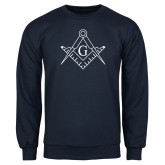 Navy Fleece Crew-Square and Compass with G