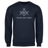 Navy Fleece Crew-Not Just A Man A Mason