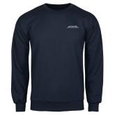 Navy Fleece Crew-Scottish Rite Wordmark