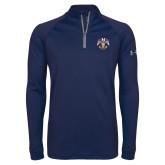 Under Armour Navy Tech 1/4 Zip Performance Shirt-Freemasons