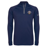 Under Armour Navy Tech 1/4 Zip Performance Shirt-Spes Mea In Deo Est
