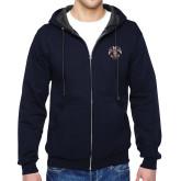 Navy Fleece Full Zip Hoodie-Freemasons