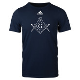 Adidas Navy Logo T Shirt-Square and Compass with G
