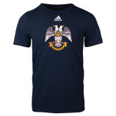 Adidas Navy Logo T Shirt-Spes Mea In Deo Est