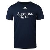 Adidas Navy Logo T Shirt-Scottish Rite