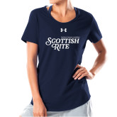 Ladies Under Armour Navy Charged Cotton Tee-Scottish Rite