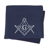 Navy Sweatshirt Blanket-Square and Compass with G
