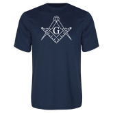 Performance Navy Tee-Square and Compass with G
