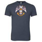 Next Level Vintage Navy Tri Blend Crew-Freemasons