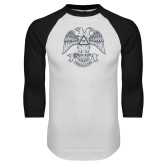 White/Black Raglan Baseball T Shirt-Freemasons