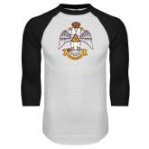 White/Black Raglan Baseball T Shirt-Deus Meumque Jus