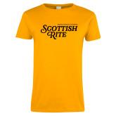 Ladies Gold T Shirt-Scottish Rite